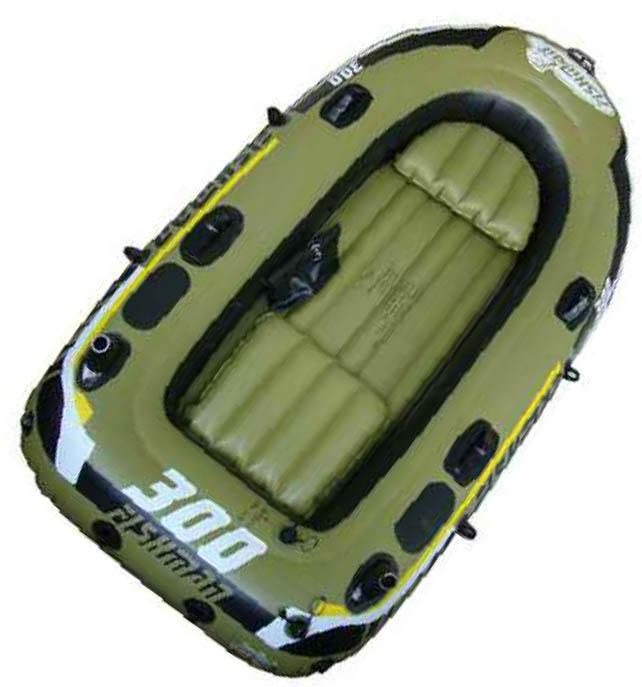 Лодка надувная Relax Fishman 300 SET (весла+насос) JL007208-1N