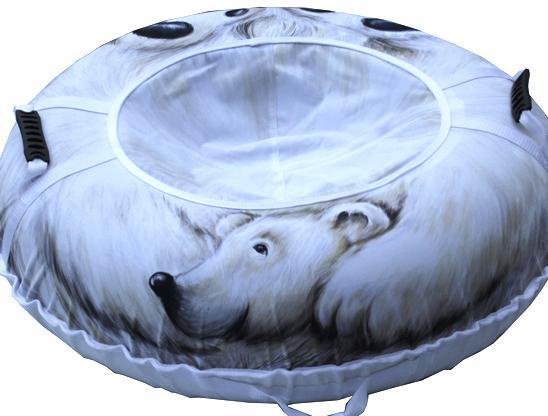Тюбинг Белый медведь 110см.