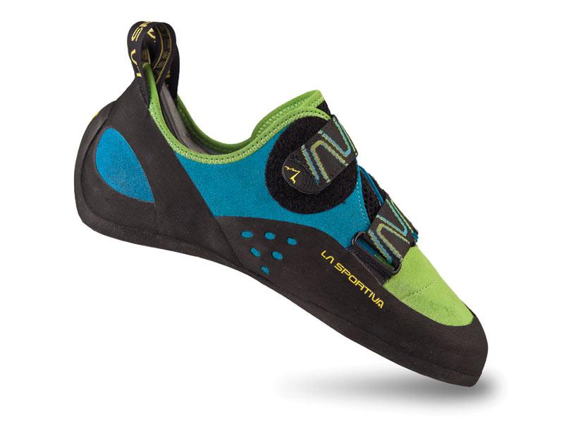 Комфортные скальные туфли для любого типа лазания La Sportiva Katana Green / Blue