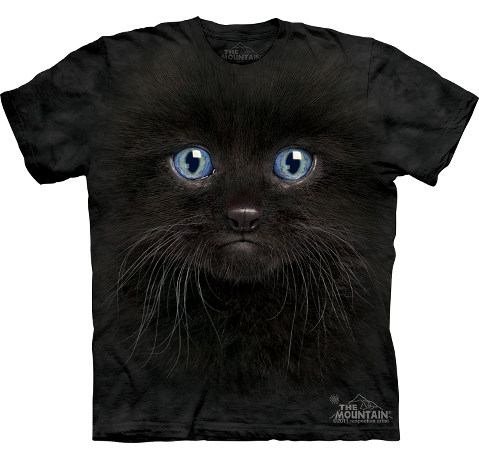 Футболка The Mountain Black kitten face