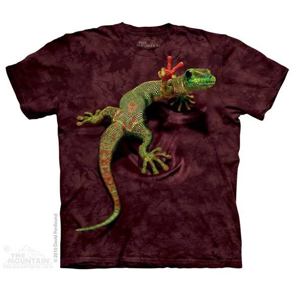 Футболка The Mountain Peace out gecko