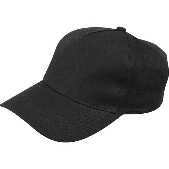 Бейсболка черная (5 клиньев)