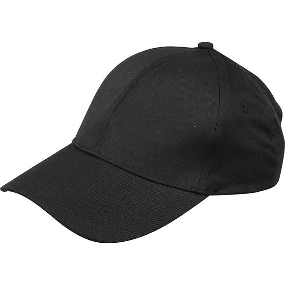 Бейсболка черная (6 клиньев)