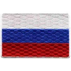 Термонаклейка -0459.3 Флаг России большой вышивка