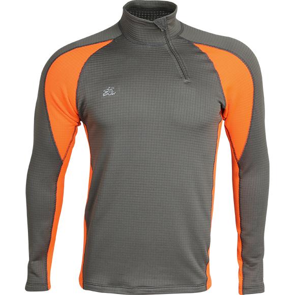 Термобелье футболка L/S Active Polartec Thermal Grid M2 серый/оранжевый
