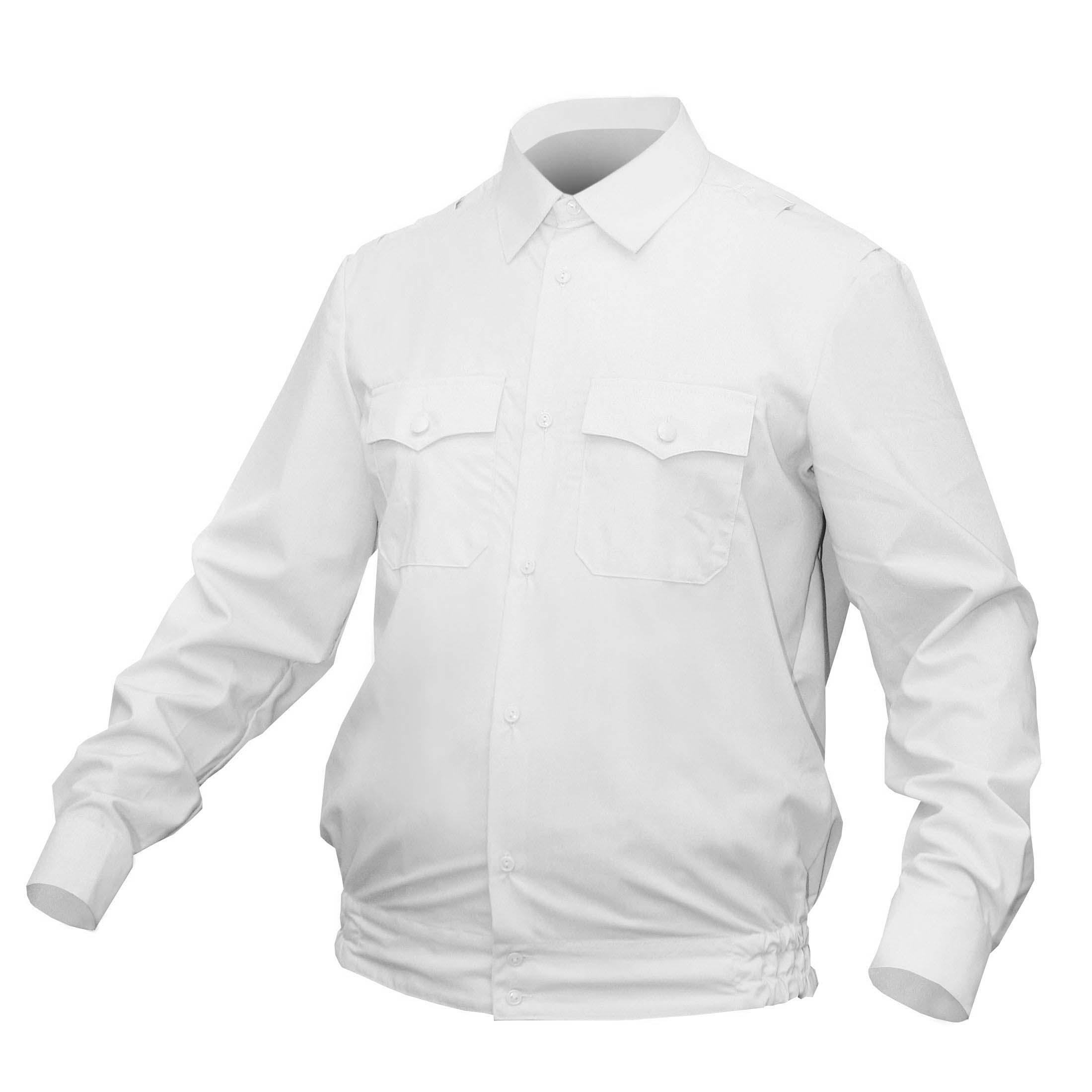 Рубашка ПОЛИЦИЯ белая с длинным рукавом на резинке