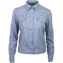 Рубашка форменная женская, длинный рукав, голубая