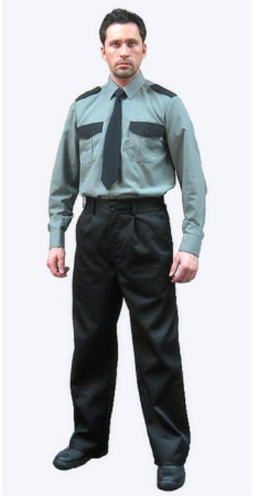 Рубашка охранника, длинный рукав, зеленая