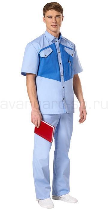 Комплект одежды медицинской мужской Озон(куртка и брюки) (распродажа), Медицинские костюмы - арт. 460880249