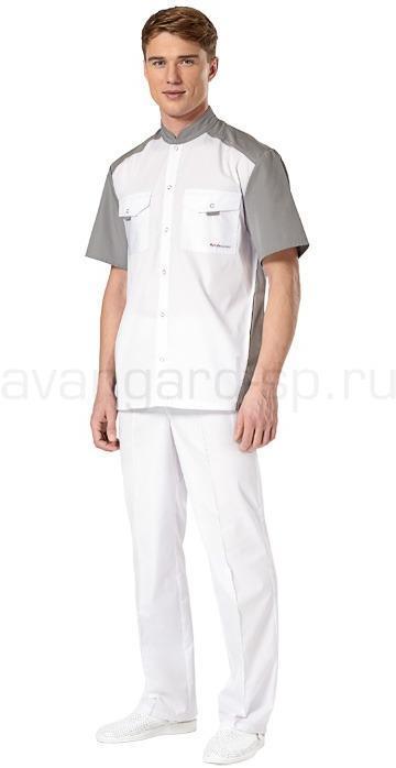 Комплект одежды медицинской мужской Интерн(куртка и брюки), Медицинские костюмы - арт. 461350249