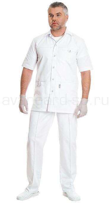 Комплект одежды медицинской мужской Эскулап(блуза и брюки), Медицинские костюмы - арт. 458140249