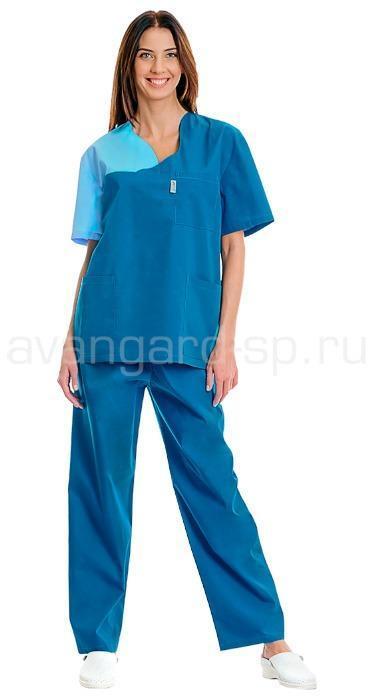 Комплект одежды медицинской женской Волна(блуза и брюки)