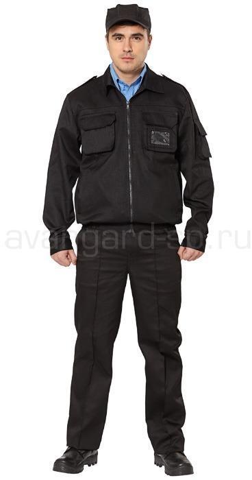 Костюм охранника Классик, ткань смесовая цвет черный NEW