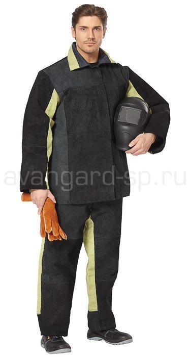 Костюм сварщика Искра (брезент+спилок), Костюмы сварщика - арт. 462640246