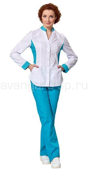 Блуза женская L2102 (бел-бир)