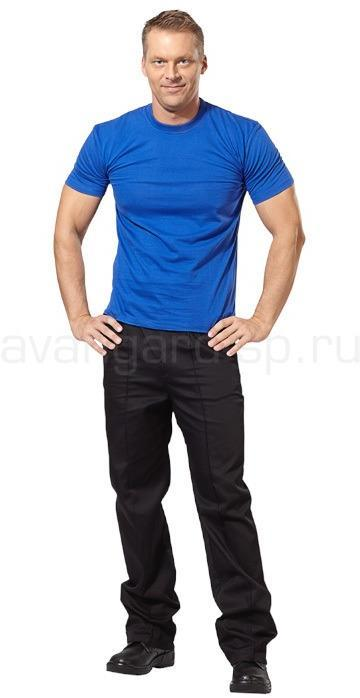 Футболки мужские, короткий рукав, 145гр/м.кв. цвет василек