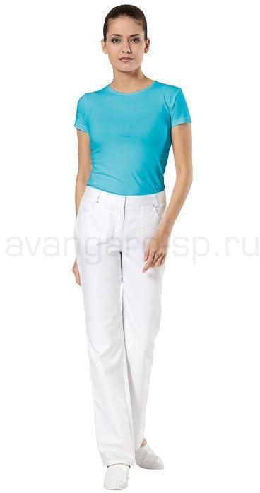 Футболка женская, короткий рукав, (стрейч) цвет белый