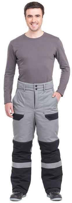 Брюки Виват утепленные мужские цвет серый+черный