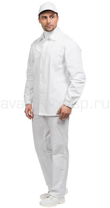 Костюм оператора мужской цвет бел.