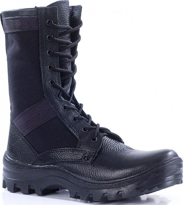 Ботинки облегченные с высокими берцами ТРОПИК кожа-нейлон 1000D 716
