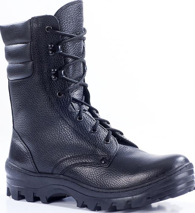 Зимние ботинки с высокими берцами ОМОН кожа 905 натуральный мех