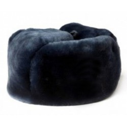 Шапка-ушанка комб.мех овчина т.синяя сукно