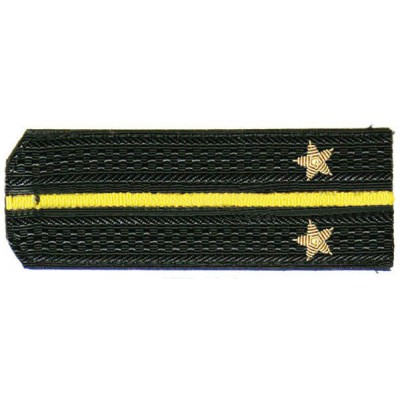 Погоны ВМФ Лейтенант вышитые латунь