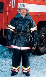 Боевая одежда пожарных в исполнении для холодного климата.