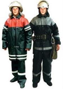 Боевая одежда пожарного 1 уровня защиты. Слева - для начсостава, справа - для рядового.