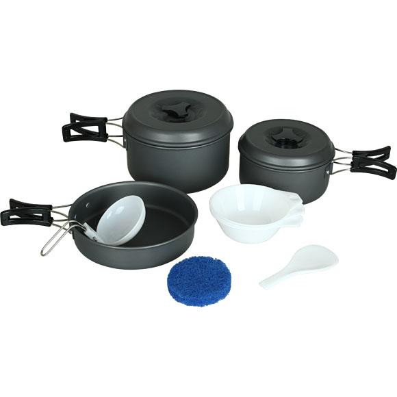 Набор посуды 2 кастрюли, 1 сковородка (2-3 персоны)