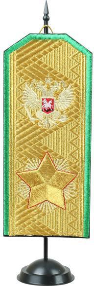 Погон сувенирный зеленый кант вышивка