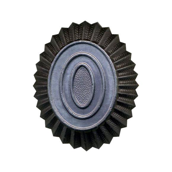 Кокарда УИС на пилотку черная металл