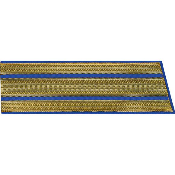 Погоны со скосом ОВ 2 голубых просвета парадные люрекс