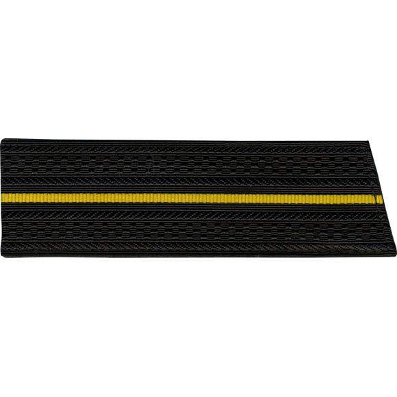 Погоны со скосом ОВ чёрные 1 жёлтый просвет