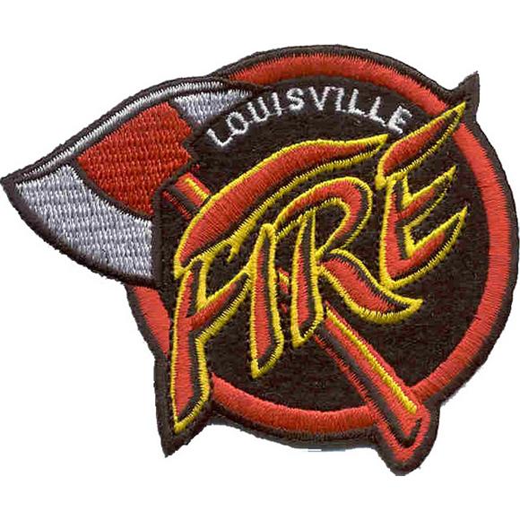 Термонаклейка -0003 Louisvill Fire вышивка