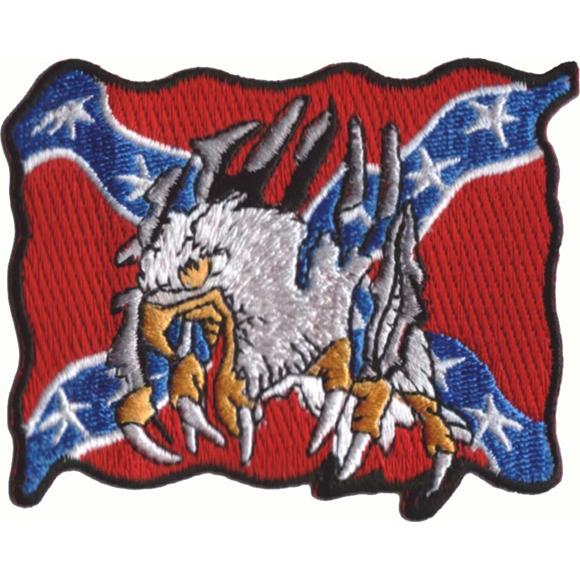 Термонаклейка -0262.1 Флаг Южной конфедерации с орлом вышивка