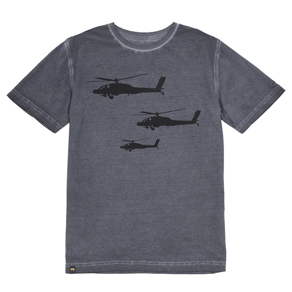 Футболка Helicopter Alpha Industries gray