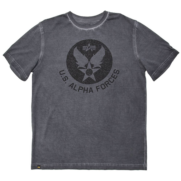 Футболка U.S. Alpha Forces (Black) Alpha Industries grey