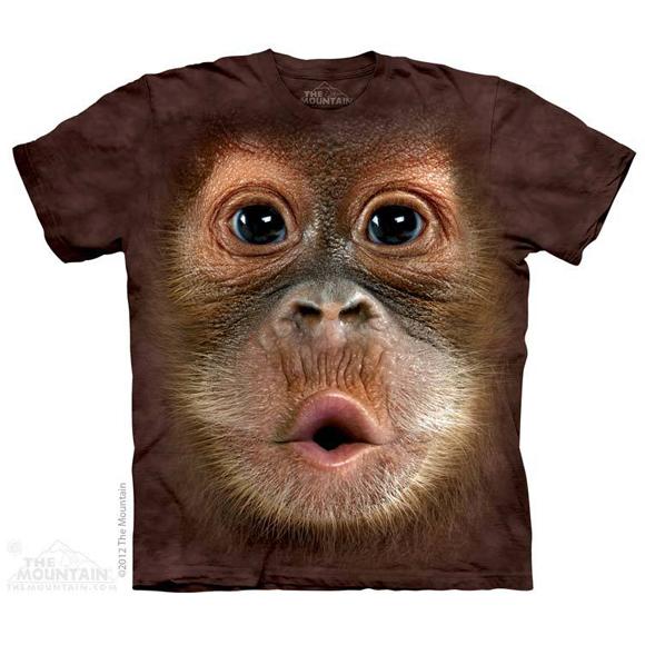 Футболка The Mountain Big face baby orangutan