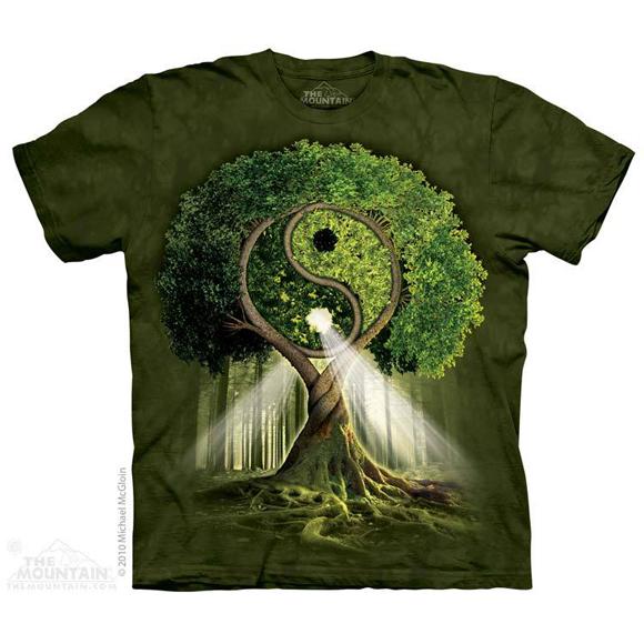 Футболка The Mountain Yin yang tree