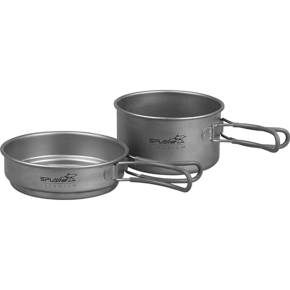 Набор титановой посуды 1 кастрюля, 1 сковородка (1250+800)