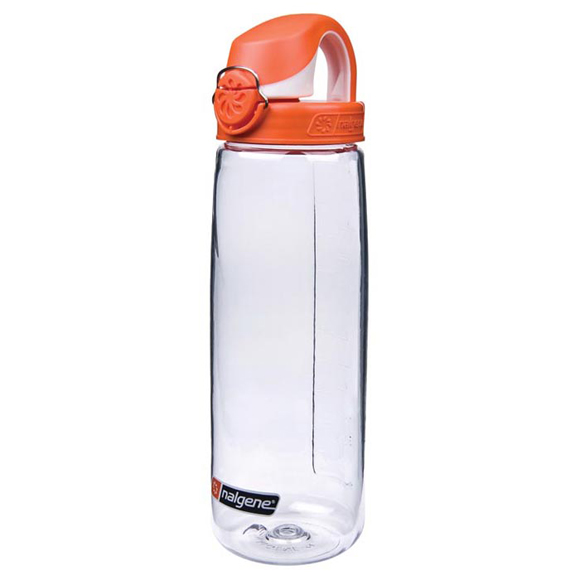 Бутылка Nalgene OTF CLEAR W/ORANGE & WHITE CAP
