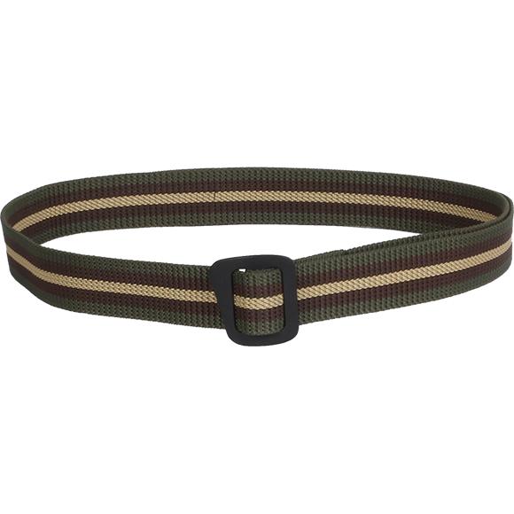 Ремень Simple 30 мм трехцветный с черной пряжкой