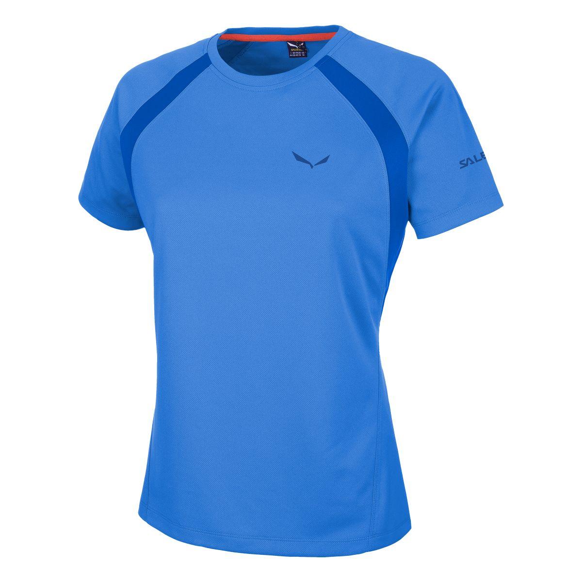 Футболка для активного отдыха Salewa 2016 PUEZ (SPORTY B) DRY W S/S TEE royal blue/8310