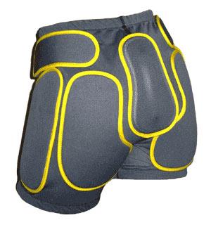 Защитные шорты BIONT Экстрим с открытым пластиком 8-10мм Черный