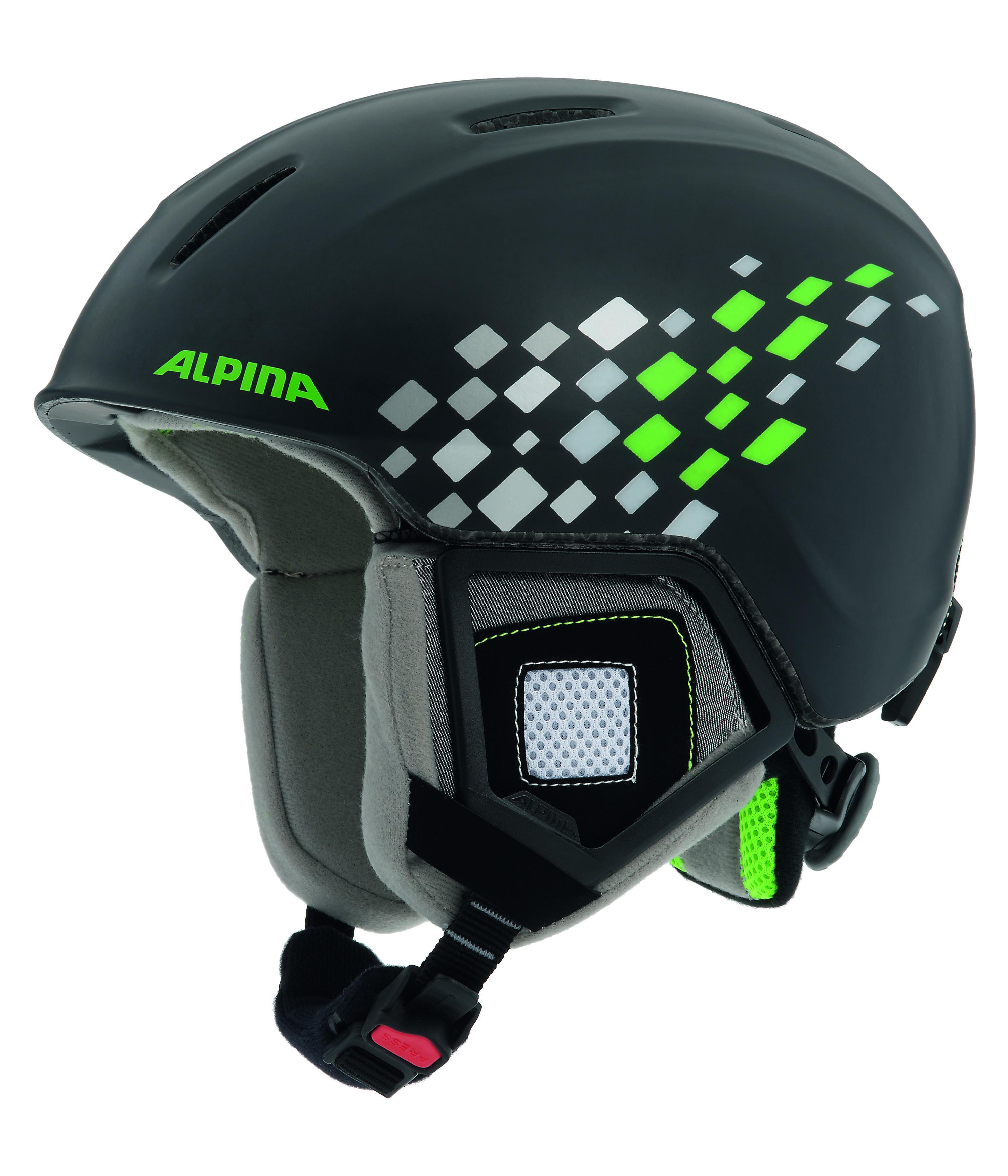 Зимний Шлем Alpina CARAT black-green
