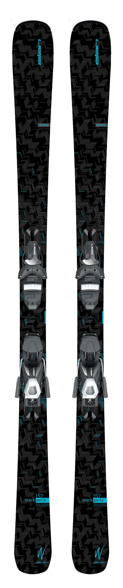 Горные лыжи с креплениями Elan 2016-17 BLACK PERLA LS EL7.5