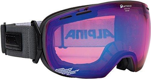 Очки горнолыжные Alpina GRANBY S QMM anthracite_QM blue sph. S2