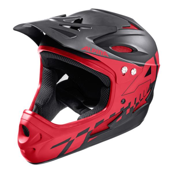 Летний шлем ALPINA 2017 Fullface black-red