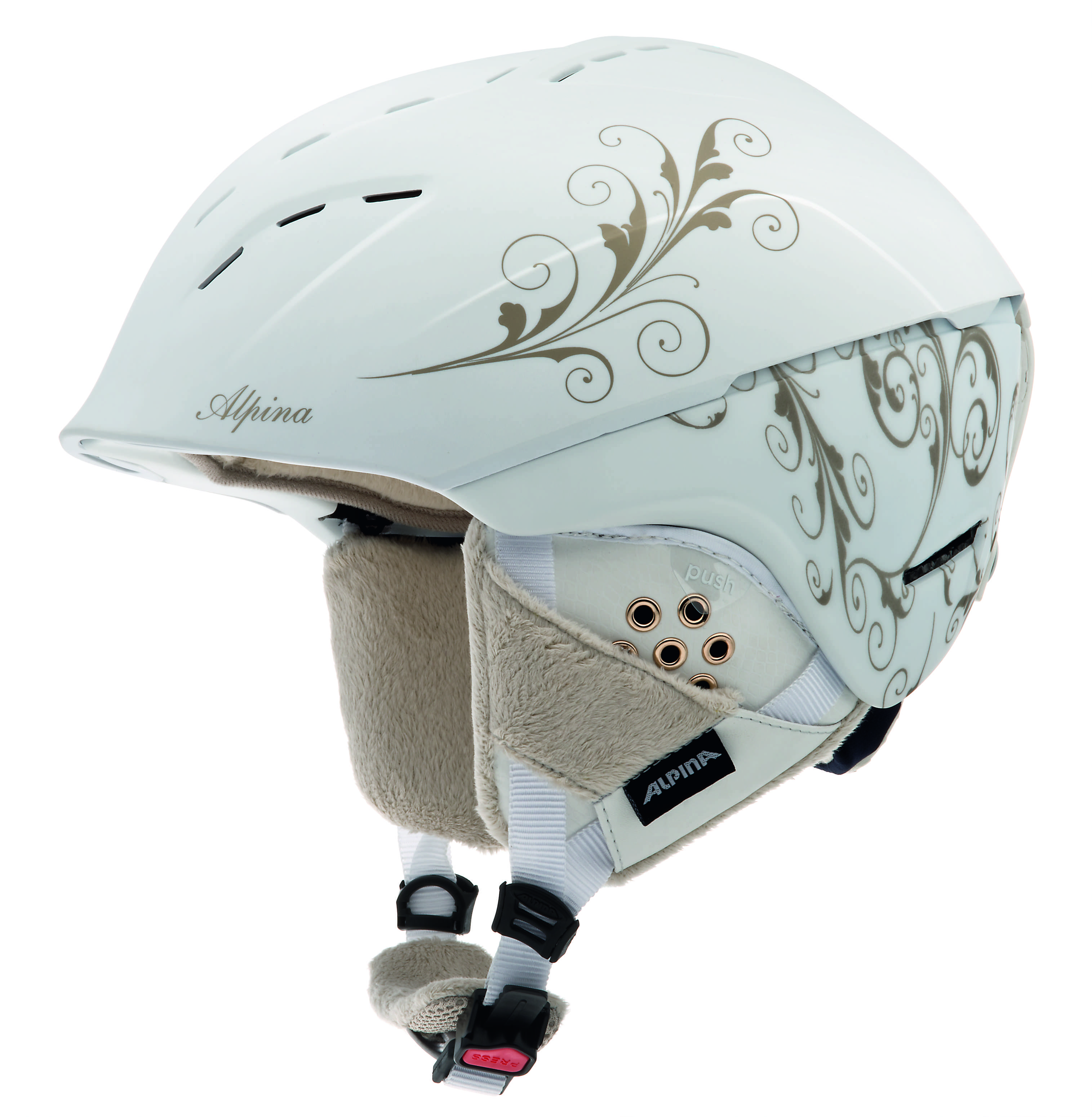 Зимний Шлем Alpina SPICE white-prosecco matt